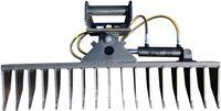 Roderechen MS03 Hydraulisch schwenkbar Wurzelreche Minibagger Breite 150cm