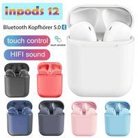 Bluetooth Kopfhörer, Inpods12 ,Kabellos Kopfhörer TWS Bluetooth 5.0 Headset True Wireless Earbuds mit Mikrofon und Tragbare Ladehülle für Android/iPhone/Samsung/Huawei,Weiß