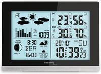 Technoline edel und modern die WS 6762 moderne Wetterstation, schwarz Hochglanz