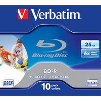 Verbatim Beschreibbare Blu-ray Disc - BD-R Rohling - 25 GB - 6x Schreibgeschwindigkeit - 10er CD-Hülle - 120mm
