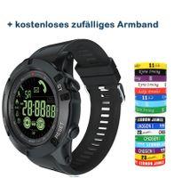 Outdoor-Smartwatch EX17s Bluetooth 4.0 Smart Watch, 50m Wasserdicht, Unterstützung für Schrittzähler/Erinnerung/Datenanalyse/Remote Camera (Schwarz)