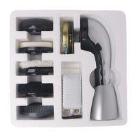 Elektrische Schuhputzmaschine Leder Schuhputzbürste zur Pflege Farbe Silber