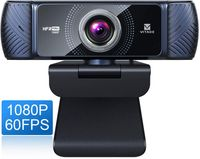 Vitade 682H Webcam 1080P 60fps mit Mikrofon zum Streamen, Pro HD USB Computer Web Cam Webkamera für Spielekonferenzen Mac Windows