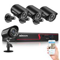 KKmoon Überwachungskamera 8CH 4K 2MP HD DVR Videoüberwachung System und 4X Outdoor Überwachungskamera Set Keine Festplatte
