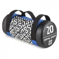 CAPITAL SPORTS Toughbag - Power Bag , Core Bag , Fitness Bag , Gewicht: 20 kg , Koordinations-, Kraft- und Ausdauertraining , Functional-Training , 3 Griffe aus Nylon , Sand-Florettseide-Mischung