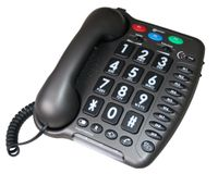 Geemarc Amplipower 40 Schwerhörigentelefon extra laut 40 dB Anthrazit Deutsche Version