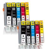 10er Pack Druckerpatronen für HP 364 XL 364XL (CB 321 EE) (CB 322 EE) (CB 323 EE) (CB 324 EE) (CB 325 EE) kompatibel (BK/C/Y/M)