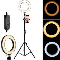 LED dimmbar Ringleuchte Ringlicht +160cm Handy Stativ für Live YouTube Makeup