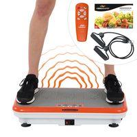 Vibro Shaper Vibrationsplatte Ganzkörper Trainingsgerät inkl. Trainingsbänder rutschfest das Original von Mediashop
