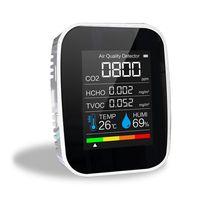 Multifunktionales 3in1 CO2-Messgeraet Digitaler Temperatur-Luftfeuchtigkeits-Tester Luftqualitaetsmonitor Kohlendioxid-Detektor