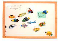 Whiteboard, Note-Board, schutzlackiert & magnethaftend - im Rahmen aus Buche - 50 x 60cm