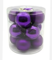 Weihnachtskugeln Glas 8cm, 12 Stück, Farbe:Mystic Violet ( violet / lila )