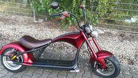 E-Roller Mr. Harley C9 Elektro Roller Elektromoped City Criuser Rot