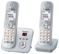 Panasonic KX-TG6822 Strahlungsarmes Schnurlostelefon mit Anrufbeantworter, Rufnummernanzeige, 15h Sprechzeit, 7 Tage Standby, Freisprechfunktion, Babyfon-Funktion, DECT