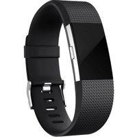 Fitbit Charge 2 Armband Silikon schwarz (L)