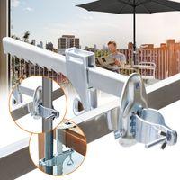 karpal Sonnenschirmhalter Balkongelaender - Kompakter Sonnenschirmstaender Balkon fuer Schirme Stockgroesse 25-32 mm šC Platzsparend, stabil