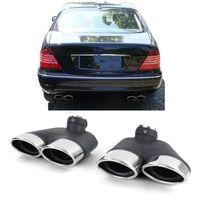 Sport Auspuff Endrohre Blenden Sport Optik für Mercedes S Klasse W220 Benziner