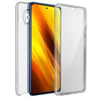 Schutzhülle für Xiaomi Poco X3, Vorder- + Rückseite – Transparent