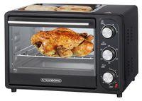 Steinborg 3 in 1 Mini-Backofen mit Grillplatte   20 Liter   Pizzaofen   Backofen mit Umluft   1300 W