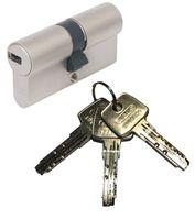 ABUS EC550 Doppelzylinder Länge (a/b) 30/40mm (c=70mm) mit 3 Schlüssel, SKG** Bohrschutz