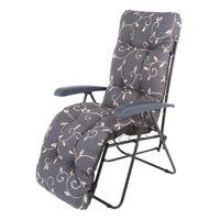 Greemotion Relaxsessel Baltrum aus Stahl/Polyester, 60 x 100 x 90 cm, mit Flockenauflage, 7-fach verstellbare Rückenlehne, Sitzhöhe 42 cm, max. 110 kg