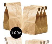 100x braune 265 x 170 mm Kraftpapier mini/klein Tüten Beutel Papiertüten