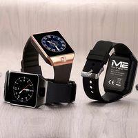 Smartwatch Bluetooth Armbanduhr Phone iPhone Android Samsung SIM Kamera Sport, Farbe:Silber