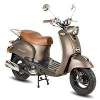 GMX 460 Retro Classic Motorroller 45 km/h braun matt Euro 4