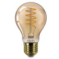 Philips LED Lampe ersetzt 25W, E27 Standardform A60, klar -Vintage, goldweiß, 25 Lumen, dimmbar, 1er Pack [Energieklasse A]