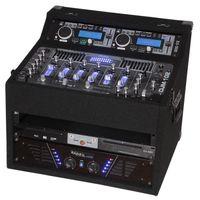 Ibiza DJ1000MKII DJ-Mixer 4-Kanal Mischpult mit Verstärker (2 x 150 Watt RMS, Doppel-CD-Player, 2 x USB-Ports, 2 x SD-Slots) schwarz