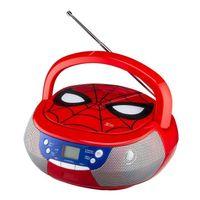 Marvel Spiderman Tragbarer CD-Player mit Radio und AUX-Eingang für Kinder und Erwachsene