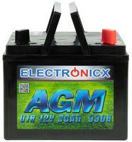 Electronicx U1R AGM 30AH 330A Batterie Rasentraktor Aufsitzrasenmäher