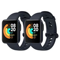 2 PCS Xiaomi Mi Watch Lite Marineblau Sportuhr Smartwatches