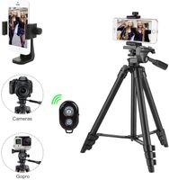 Kamerastativ mit Handyhalter und Bluetooth-Fernbedienung, Handystativ für iPhone, Samsung und Kamera-Mini-Smartphone-Stativ.