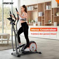 Merax Crosstrainer Ellipsentrainer Ergometer Heimtrainer Cardio Stepper mit 8 Stufen Widerstand und bidirektionale Bewegung,