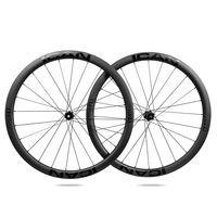 ICAN Carbon Laufräder Alhpa 40 Disc Rennrad Laufradsatz 40mm Drahtreifen Tubeless Ready Scheibenbremse 12x100 / 12x142mm