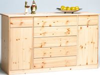 Steens - Mario Sideboard 2-türig 5+2 Schubladen - Material: Kiefer - Verarbeitung: Natur-Lackiert - H x B x T - 89 x 151 x 48  cm