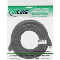 InLine® High Speed HDMI® Mini Kabel, Stecker A auf C, verg. Kont., schwarz, 10m