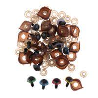 50  Sicherheitsaugen Kunststoffaugen Puppenaugen 14mm für Teddyaugen Ovale