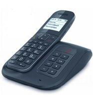 Telekom Sinus A206 Comfort Strahlungsarmes Schnurlostelefon mit Anrufbeantworter, Rufnummernanzeige, 19h Sprechzeit, 10 Tage Standby, Freisprechfunktion, DECT