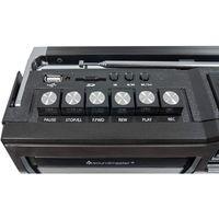 Soundmaster RR18SW Retro Radio Kassetten Rekorder schwarz USB/SD Wiedergabe
