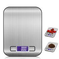 Digitalwaage Professionelle Electronische Waage, Küchenwaage mit LCD Display-wunderbare Präzision auf bis zu 1g (5kg Maximalgewicht) - Silbrig