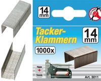 KRAFTMANN 3011 Klammern à 1000 Stück, 14 mm