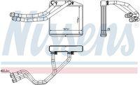 NISSENS Wärmetauscher Innenraumheizung für OPEL COMBO Kasten/Kombi X12