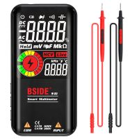 BSIDE S10 Intelligent 9999 Zaehlt Multimeter Digitales LCD-Display AC / DC-Voltmeter Ohmmeter Testwiderstand Kapazitaet Frequenz Diodenkontinuitaet NCV-Live-Leitung mit Flash Light Data Hold