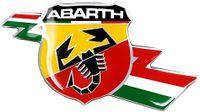 Abarth 3D Aufkleber Offizielle Schild Italien Blitz, Größe 50 mm