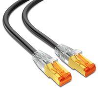 mumbi LAN Kabel 20m CAT 7 Rohkabel Netzwerkkabel S/FTP PimF CAT7 Rohkabel Ethernet Kabel Patchkabel RJ45 20Meter, schwarz