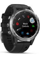 Garmin FENIX 5 PLUS | silber mit schwarzem Armband 47mm | 010-01988-11