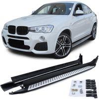Aluminium Trittbretter Flankenschutz OE Style mit ABE !! für BMW X4 F26 14-18