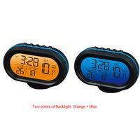 Voltmeter Digital anzeige Auto Thermometer Noctilucous Uhr Einfrieren Warnung + Batterien + Zigarettenanzünder Adapter